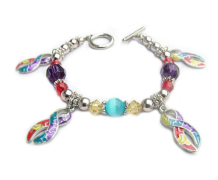 awareness jewelry such as autism charm bracelets autism